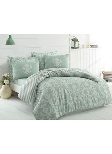 Eponj Home Mature Nevresim Seti Çift Kişilik Pure  Yeşil